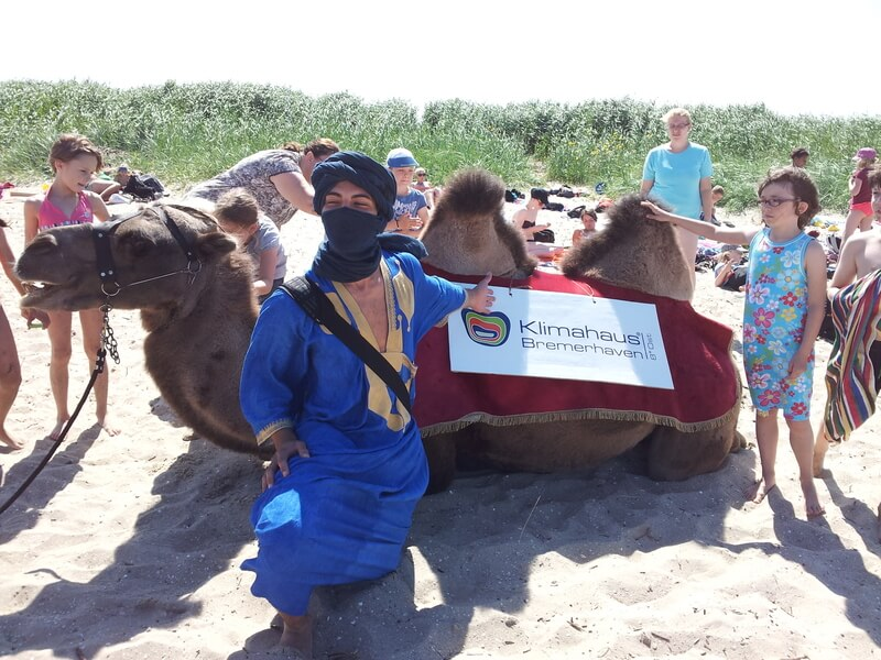 Klimahaus Bremerhaven – Sampling and a camel 2012